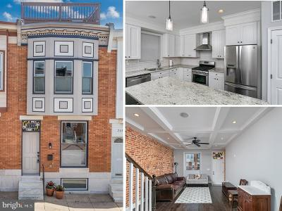Canton Townhouse For Sale: 735 S Potomac Street