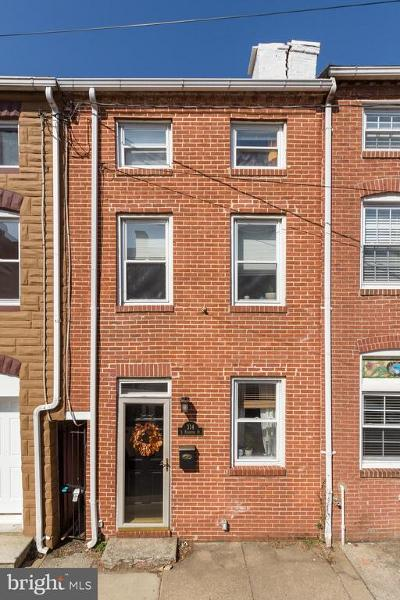 Upper Fells Point Townhouse For Sale: 314 S Regester Street
