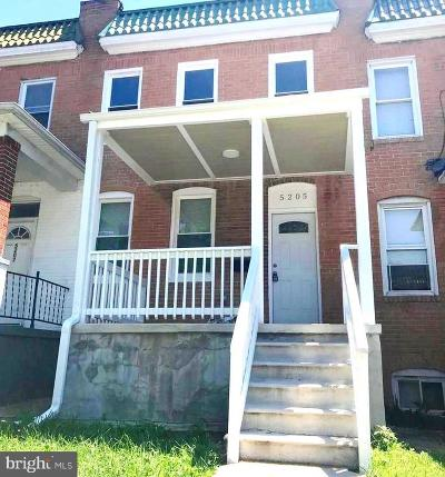 Baltimore Townhouse Active Under Contract: 5205 Ivanhoe Avenue