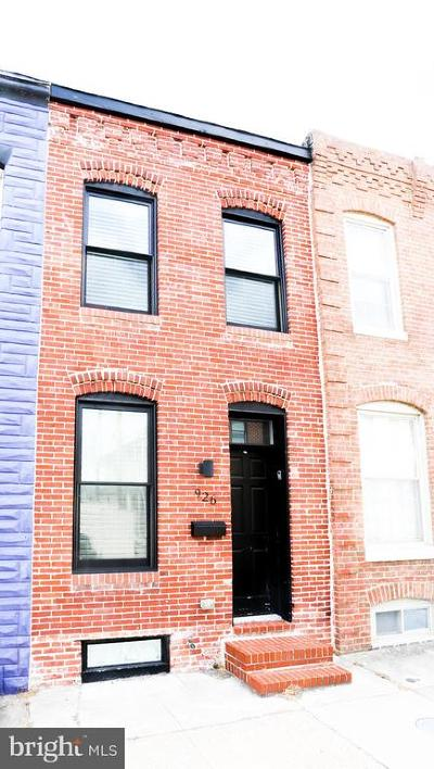 Baltimore City Townhouse For Sale: 926 S Curley Street