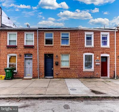 Baltimore City Townhouse For Sale: 2437 Fleet Street
