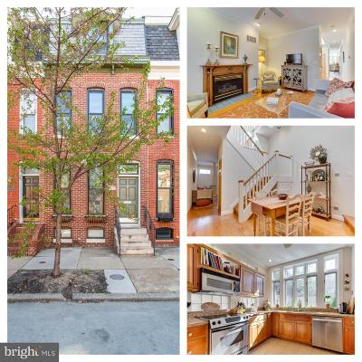 Baltimore City Townhouse For Sale: 1309 S Hanover Street