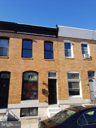 Baltimore City Townhouse For Sale: 708 S Curley Street