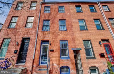 Upper Fells Point Townhouse For Sale: 324 S Chester Street