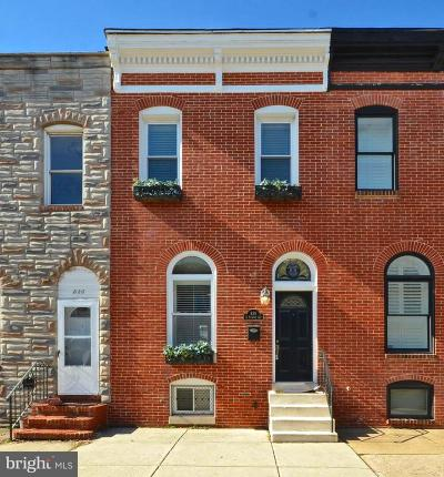 Baltimore City Townhouse For Sale: 818 S Ellwood Avenue