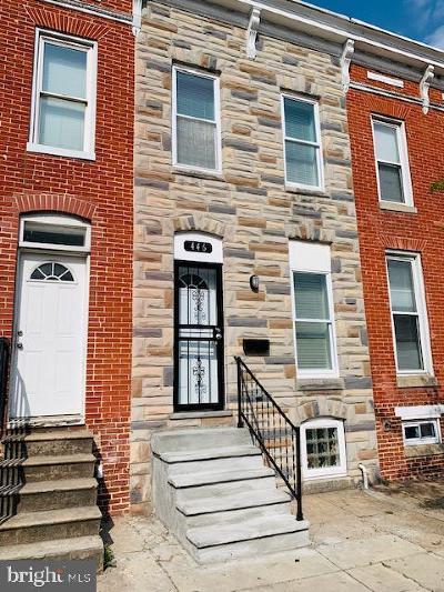 Baltimore City Townhouse For Sale: 446 N Patterson Park Avenue