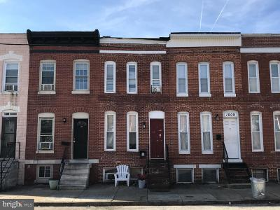 Baltimore City Townhouse For Sale: 1207 W Cross Street