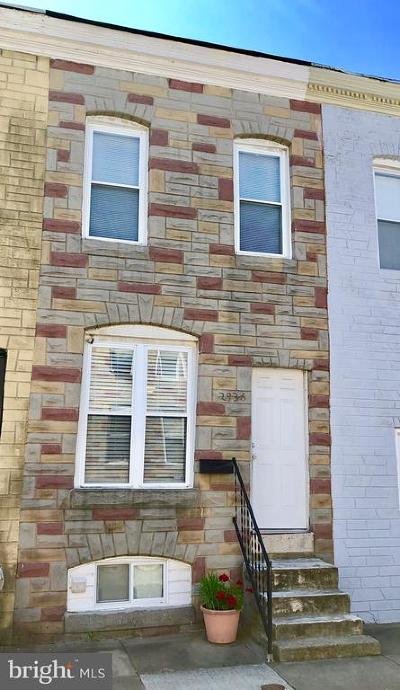 Baltimore Townhouse For Sale: 2936 Miles Avenue