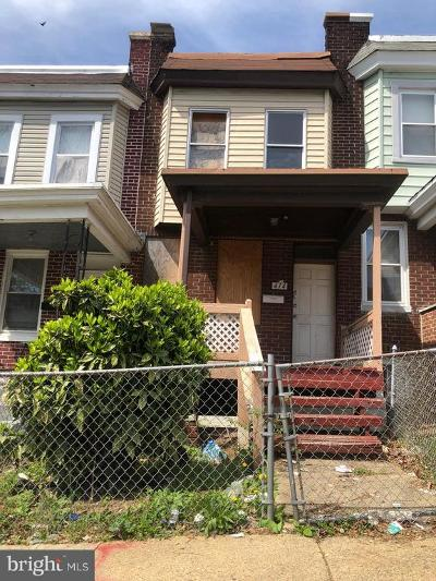 Baltimore MD Townhouse For Sale: $50,000