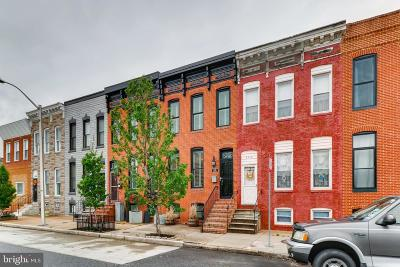 Baltimore City Townhouse For Sale: 3208 Hudson Street