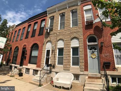 Federal Hill Townhouse For Sale: 126 W Fort Avenue
