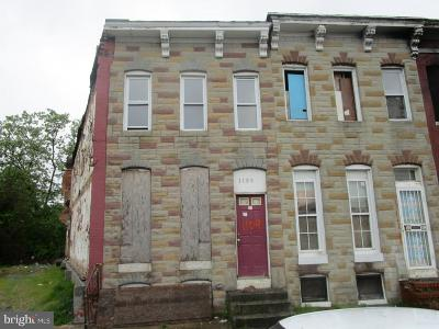 Baltimore Townhouse For Sale: 1109 Winchester Street