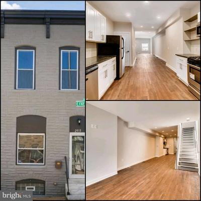 Baltimore Townhouse For Sale: 2513 E Fayette Street