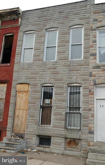 Baltimore Townhouse For Sale: 2034 Wilkens Avenue