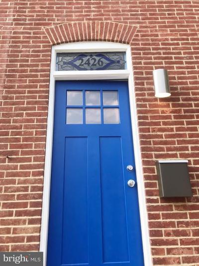 Baltimore Townhouse For Sale: 2426 Fait Avenue