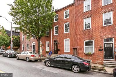 Butchers Hill Townhouse For Sale: 1819 E Pratt Street