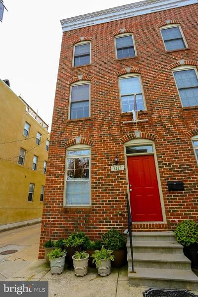 Butchers Hill Townhouse For Sale: 2119 E Fairmount Avenue