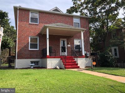 Baltimore City Single Family Home For Sale: 4603 Hazelwood Avenue