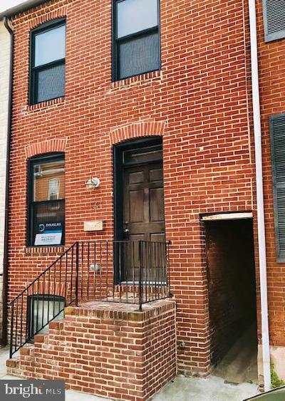Federal Hill Townhouse For Sale: 131 E Clement Street