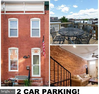 Federal Hill Townhouse For Sale: 1440 Patapsco Street