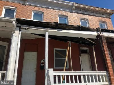 Baltimore MD Townhouse For Sale: $12,000