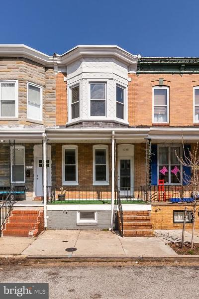 Baltimore City Townhouse For Sale: 1218 Cleveland Street