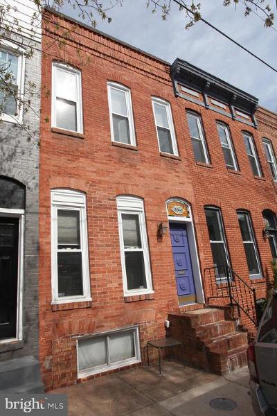 Baltimore City Townhouse For Sale: 1035 Riverside Avenue