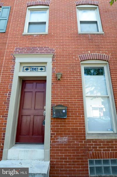 Baltimore City Townhouse For Sale: 404 S Ann Street