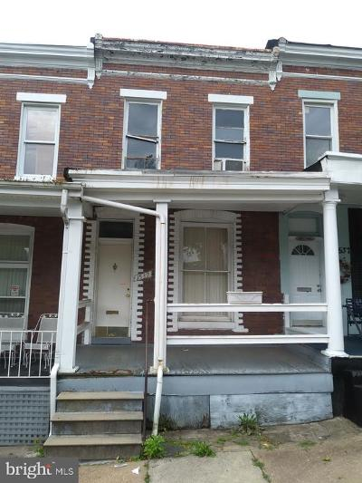 Baltimore City Townhouse For Auction: 1539 Abbotston Street