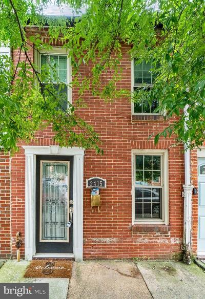 Canton Townhouse For Sale: 2415 Fleet Street