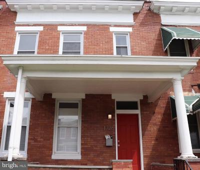 Baltimore Townhouse For Sale: 1726 E 31st Street