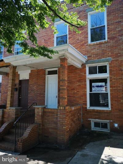 Baltimore City Townhouse For Sale: 514 N Highland Avenue