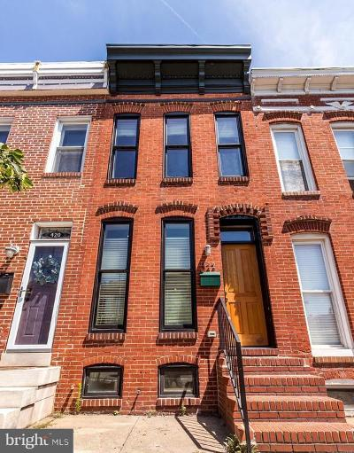 Federal Hill Townhouse For Sale: 422 E Fort Avenue