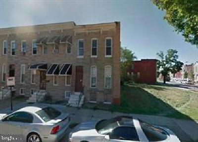Baltimore Townhouse For Sale: 1833 W Lanvale Street