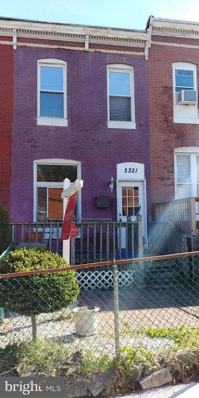 Morrell Park Townhouse For Sale: 2321 Washington Boulevard
