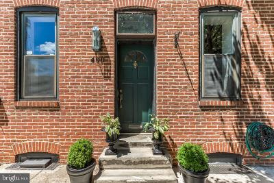 Baltimore Townhouse For Sale: 400 Cross Street E