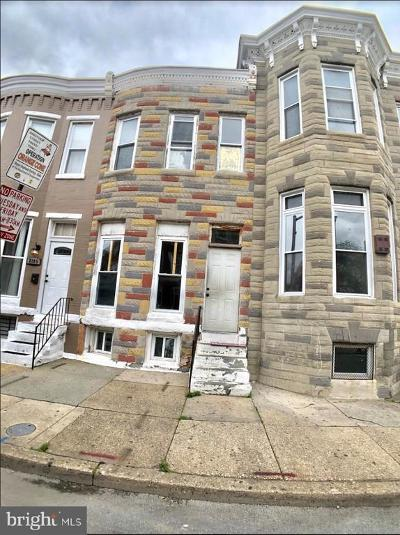 Baltimore Townhouse For Sale: 2103 Barclay Street