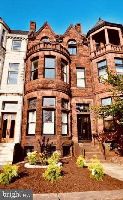 Baltimore Townhouse For Sale: 2440 Eutaw Place