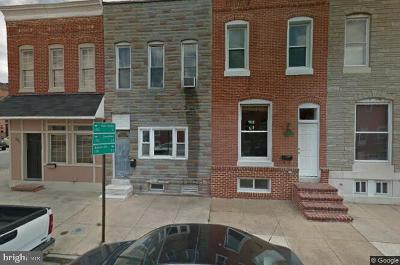Baltimore Townhouse For Sale: 803 S Ellwood Avenue