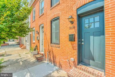 Baltimore Townhouse For Sale: 3116 Elliott Street