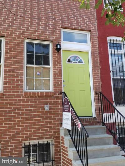 Baltimore Townhouse For Sale: 1029 W Fayette Street