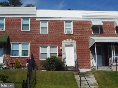 Baltimore Townhouse For Sale: 3539 Dudley Avenue