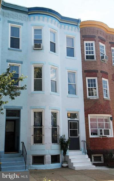 Baltimore City Townhouse For Sale: 2647 Maryland Avenue