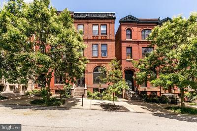 Baltimore City Townhouse For Sale: 1611 Park Avenue