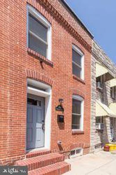 South Baltimore Townhouse For Sale: 1614 Marshall Street