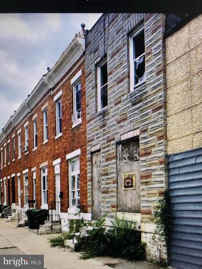 Baltimore Townhouse For Sale: 624 N Pulaski Street