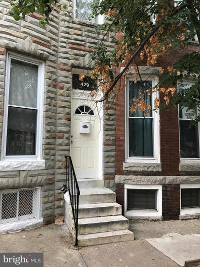 Baltimore Townhouse For Sale: 429 E Lorraine Avenue
