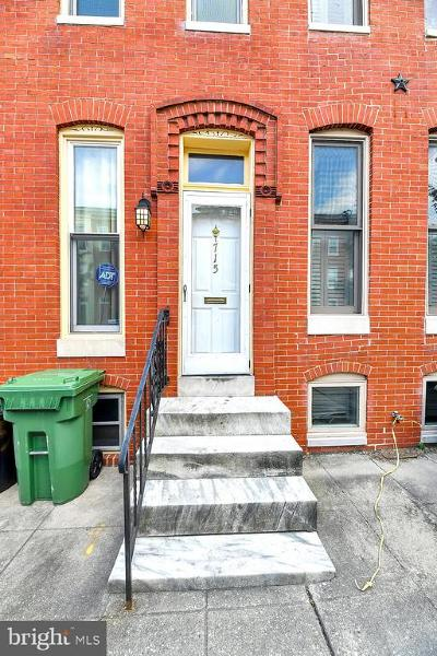 Baltimore Townhouse For Sale: 715 Portland Street
