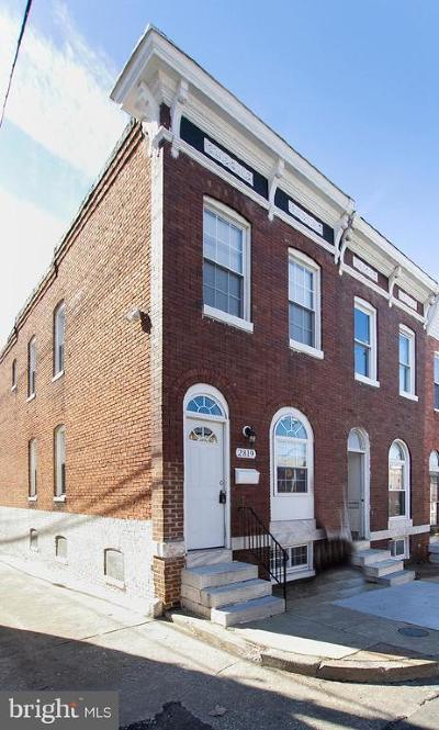 Baltimore City Townhouse For Sale: 2819 Orleans Street