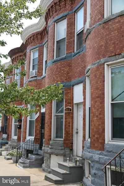 Baltimore Townhouse For Sale: 906 N Monroe Street